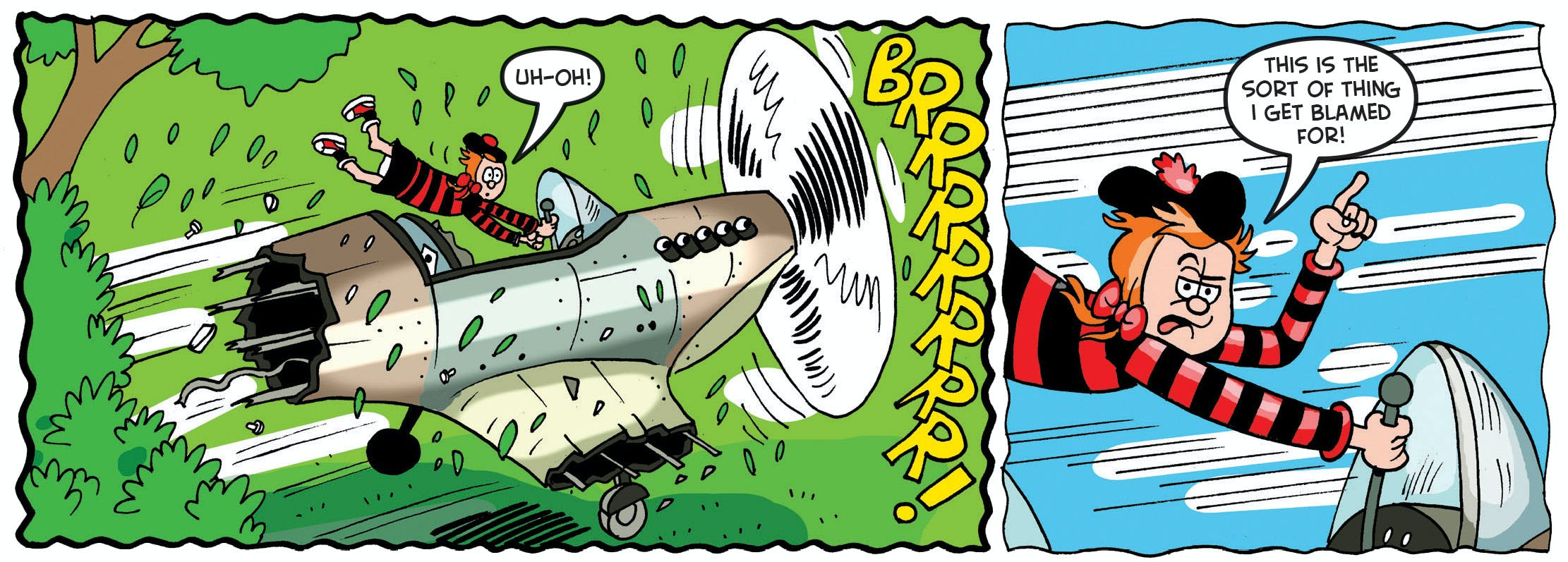 1.	The Minx flies into trouble when she discovers an abandoned World War II plane!