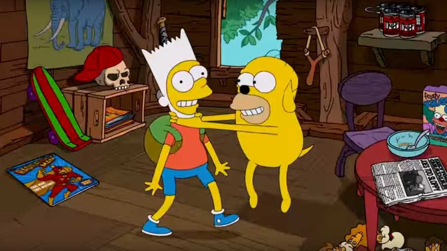Bart and Homer