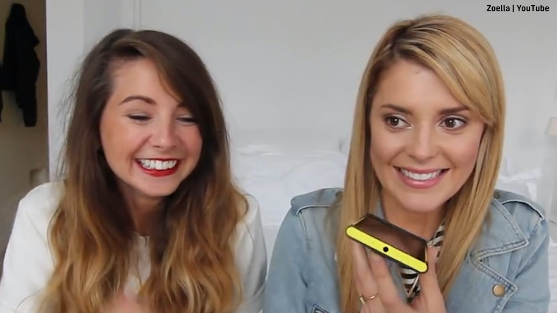 Zoella and DailyGrace make a prank call