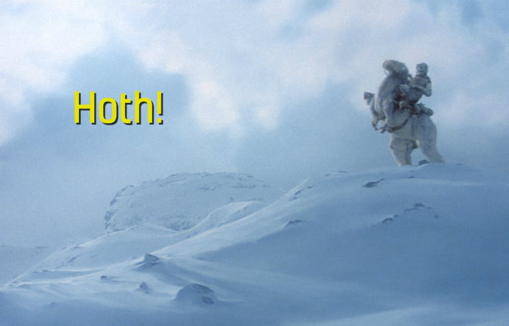 An image of the Star Wars planet Hoth