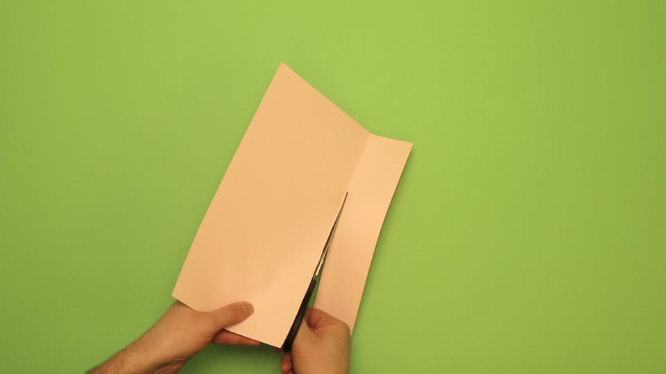 Fold and trim the paper