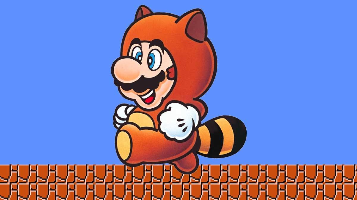 Mario's raccoon-y outfit