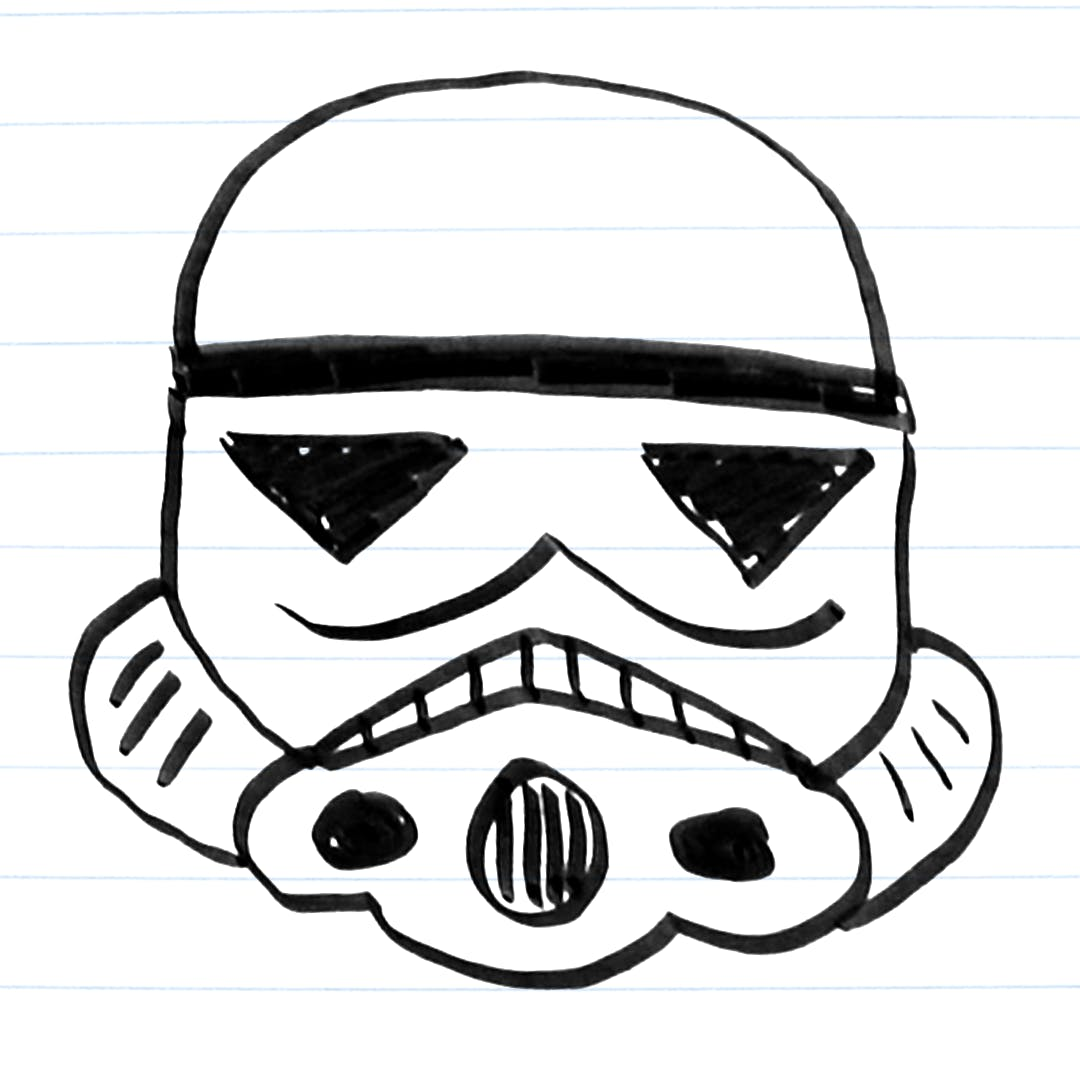 Drawing of a stormtrooper
