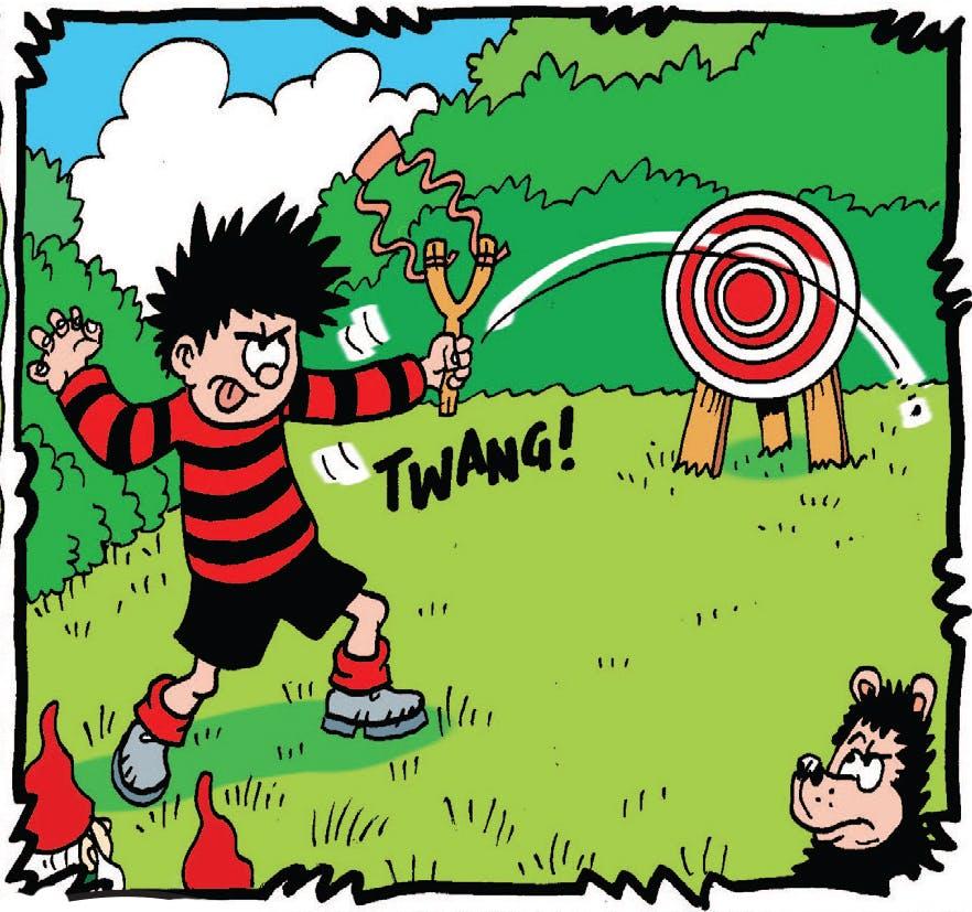 Dennis misses the target