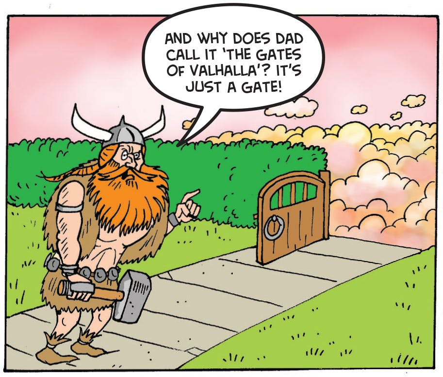 Thor goes to close the gate