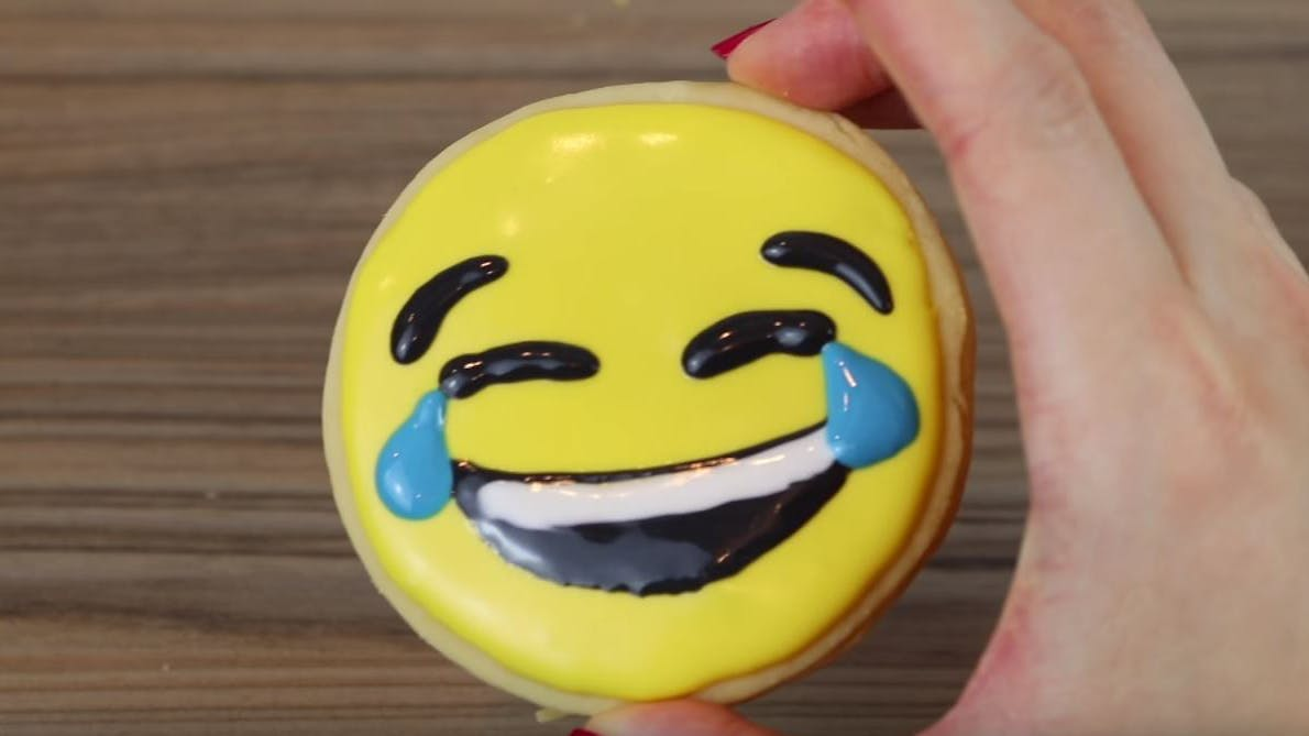 Awesome emoji biscuits