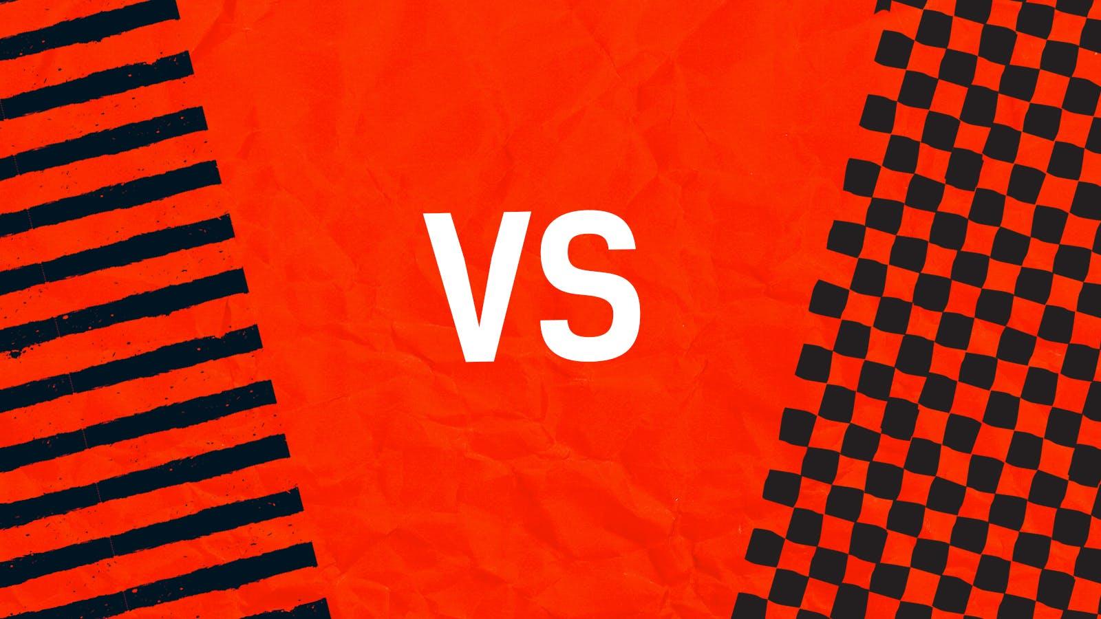 Stripes versus Squares
