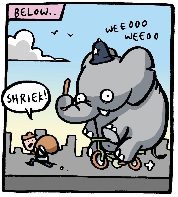 Elephants are police