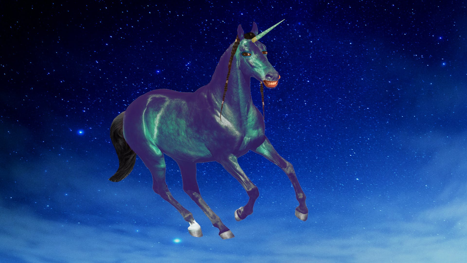 "Lilly ""Superwoman"" Singh as a unicorn"