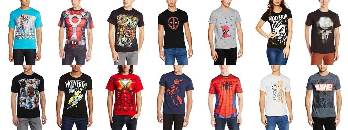 Marvel t-shirts from Amazon.com