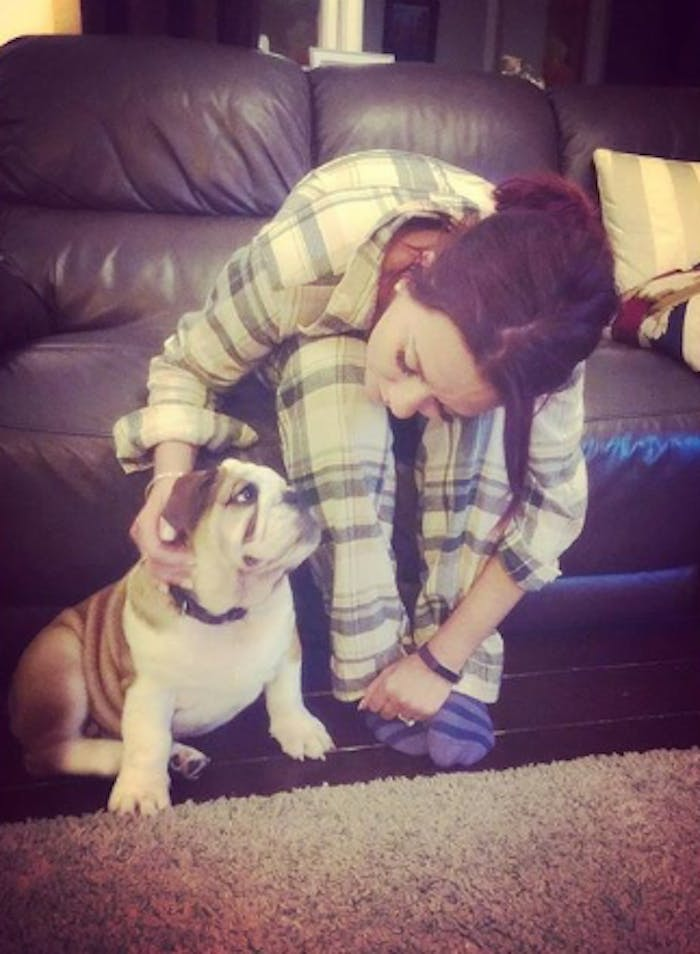 Candice Brown and her dog Dennis