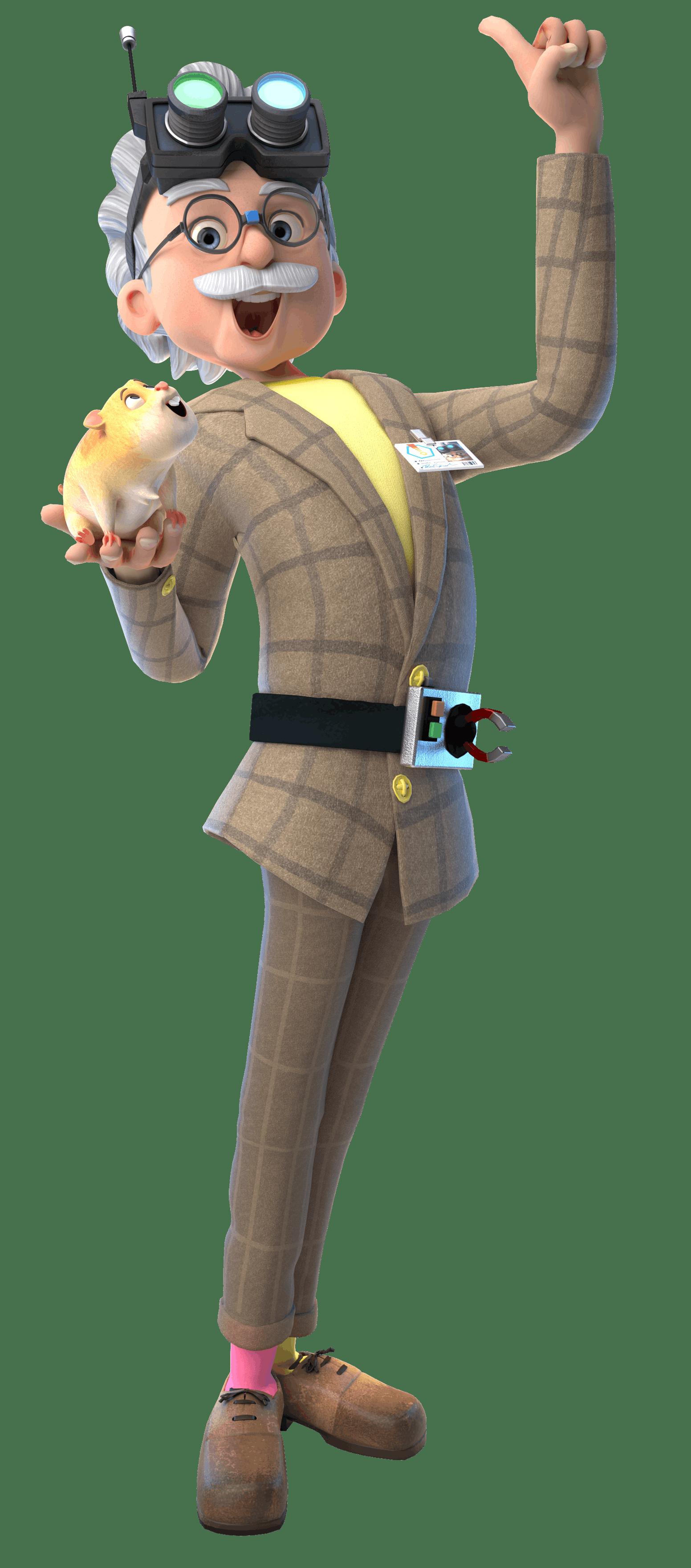 Professor Von Screwtop from the 2017 TV animation series, Dennis & Gnasher: Unleashed!