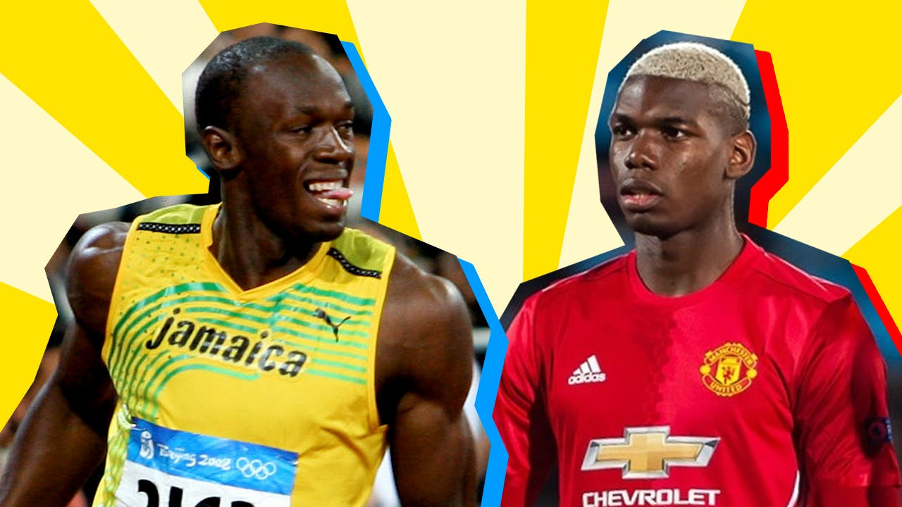 Usain Bolt and Paul Pogba