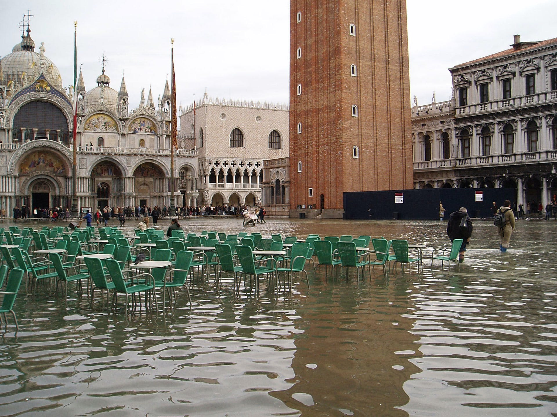 Venice, all flooded and messy