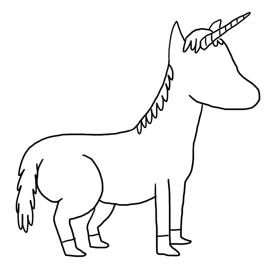 This unicorn has no face