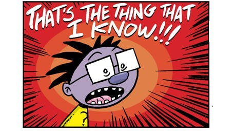 Brainy knows something - from The Numskulls, Beano