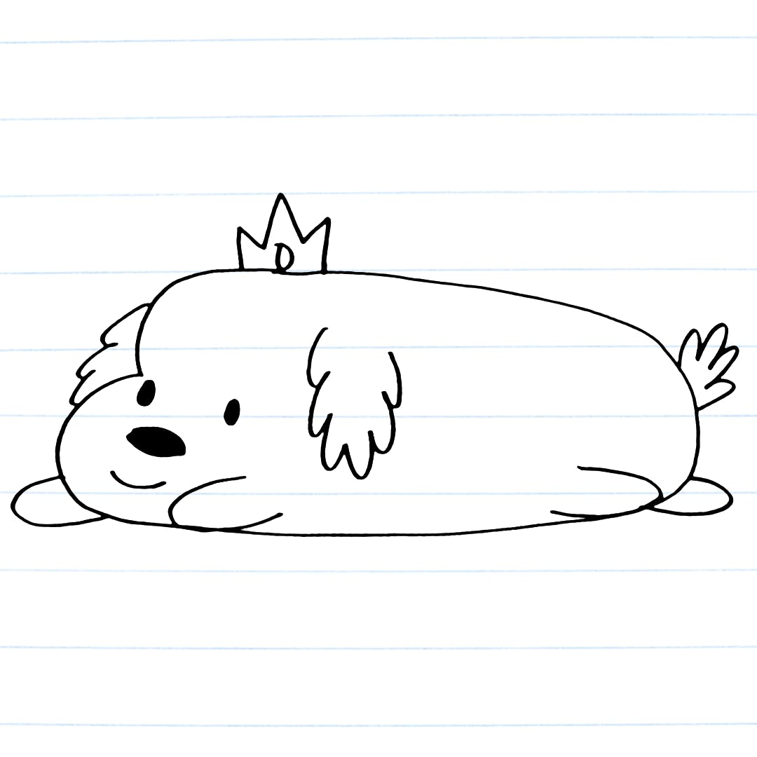 Drawing of Hot Dog Princess