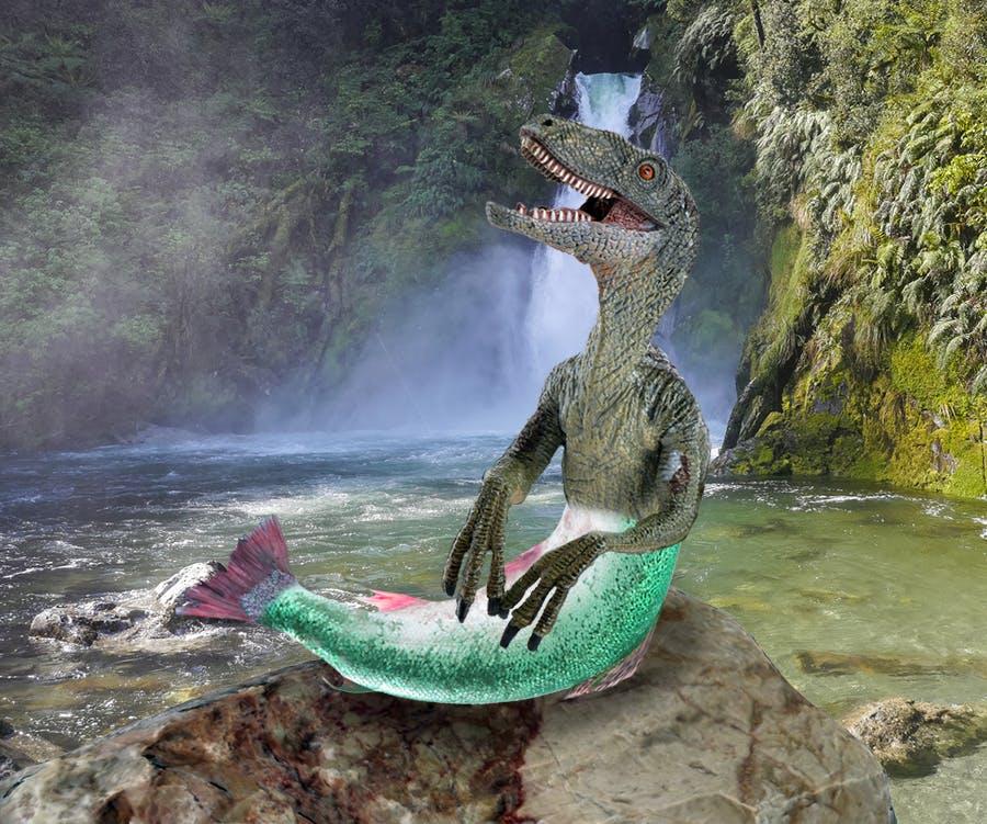 Mermaid velociraptor