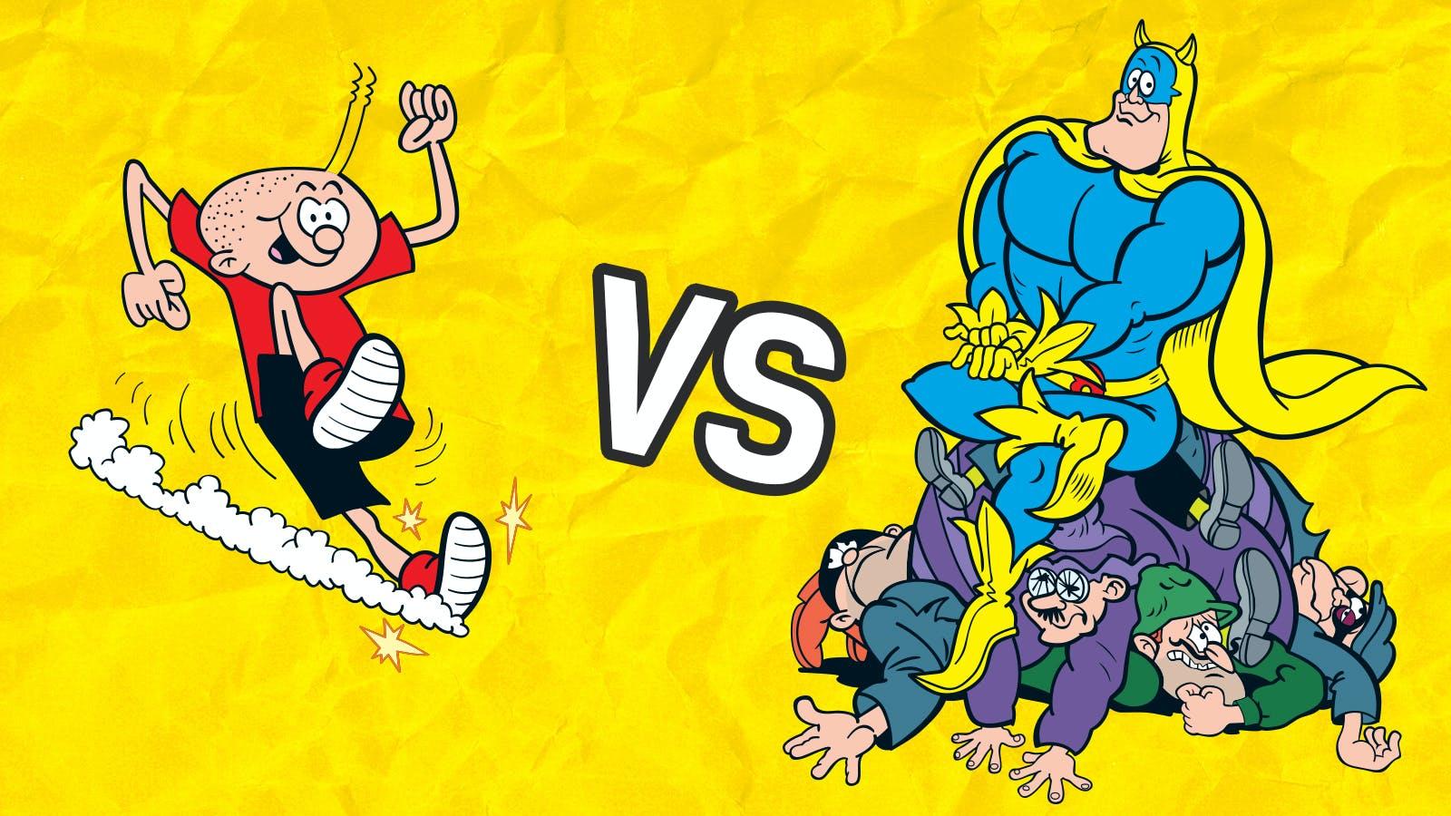 Whizz versus Bananaman