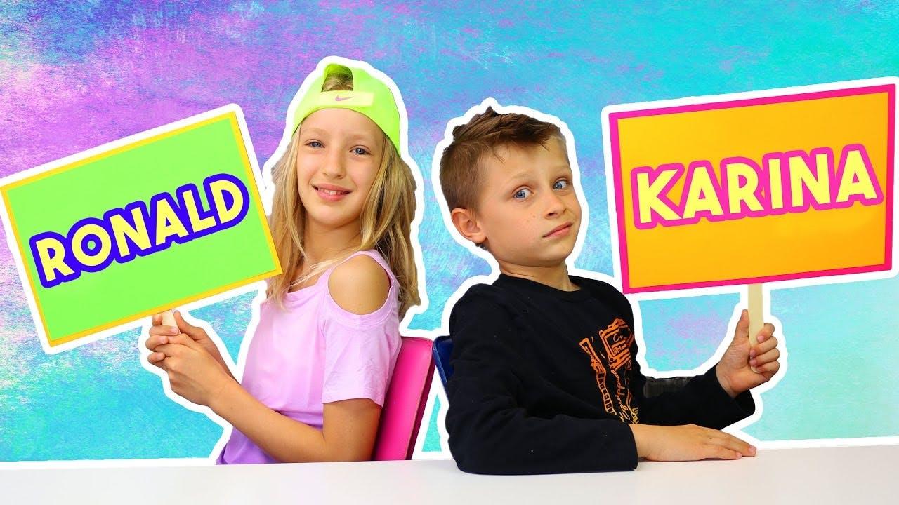 Karina and Ronald aka Sis vs Bro!
