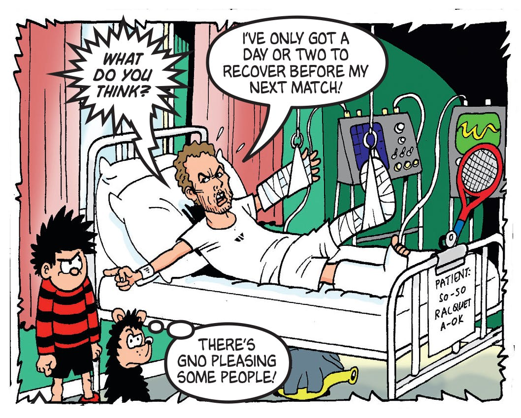 Dennis the Menace and Andy Murray at Wimbledon