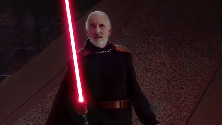 Count Dooku in Attack Of The Clones