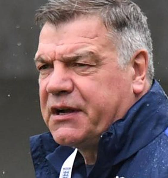 Big Sam Allardyce doing a football