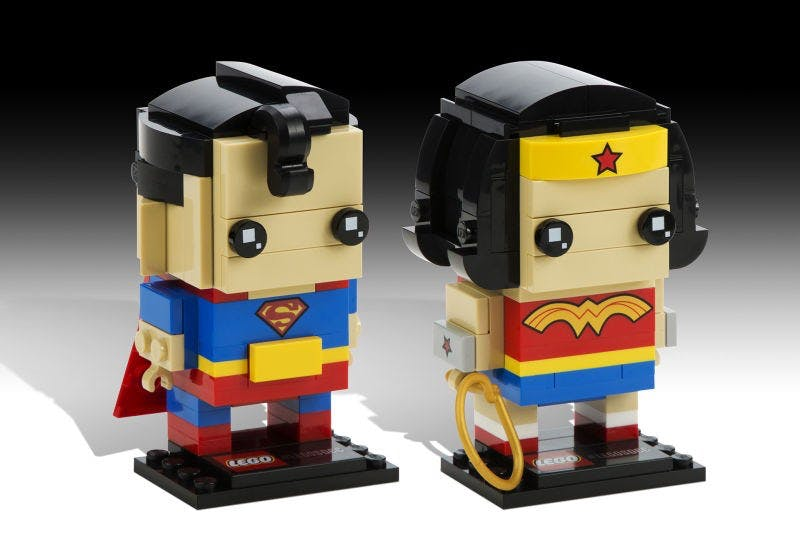 Lego Superman and Wonder Woman
