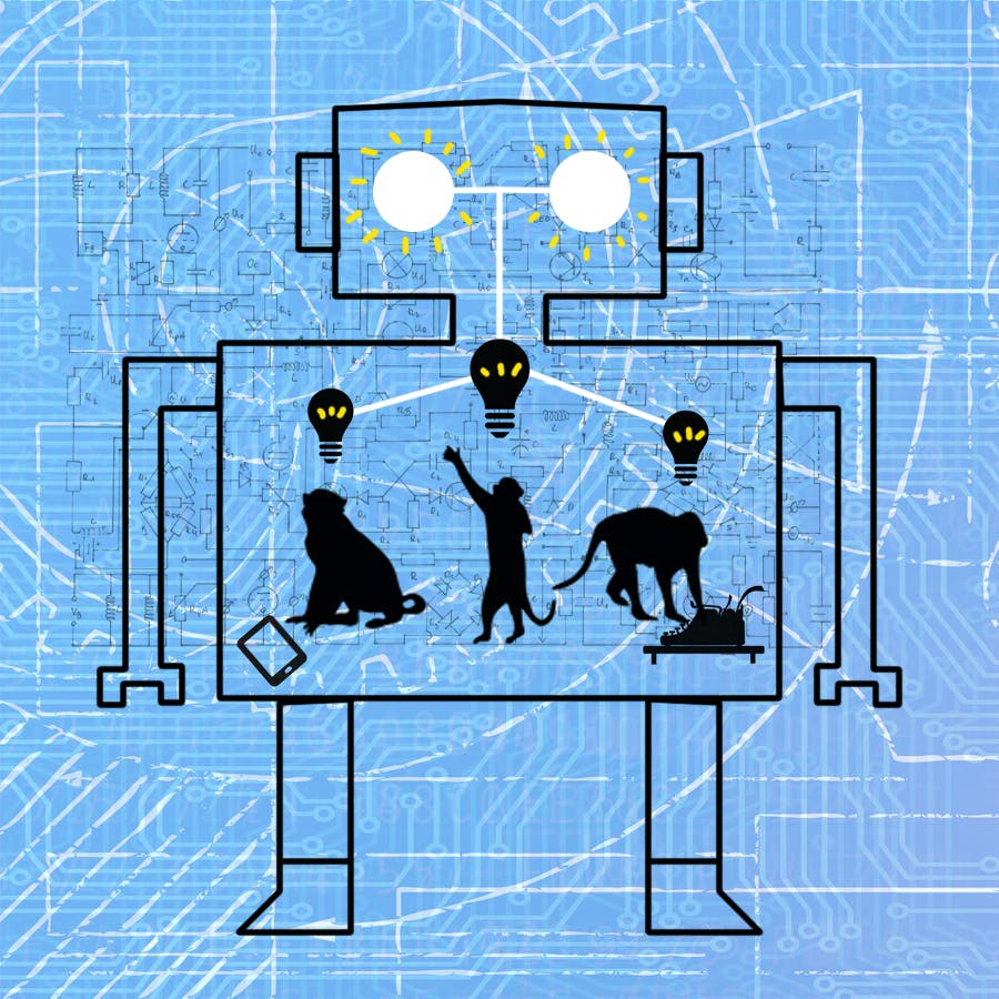 infinite monkey idea robot