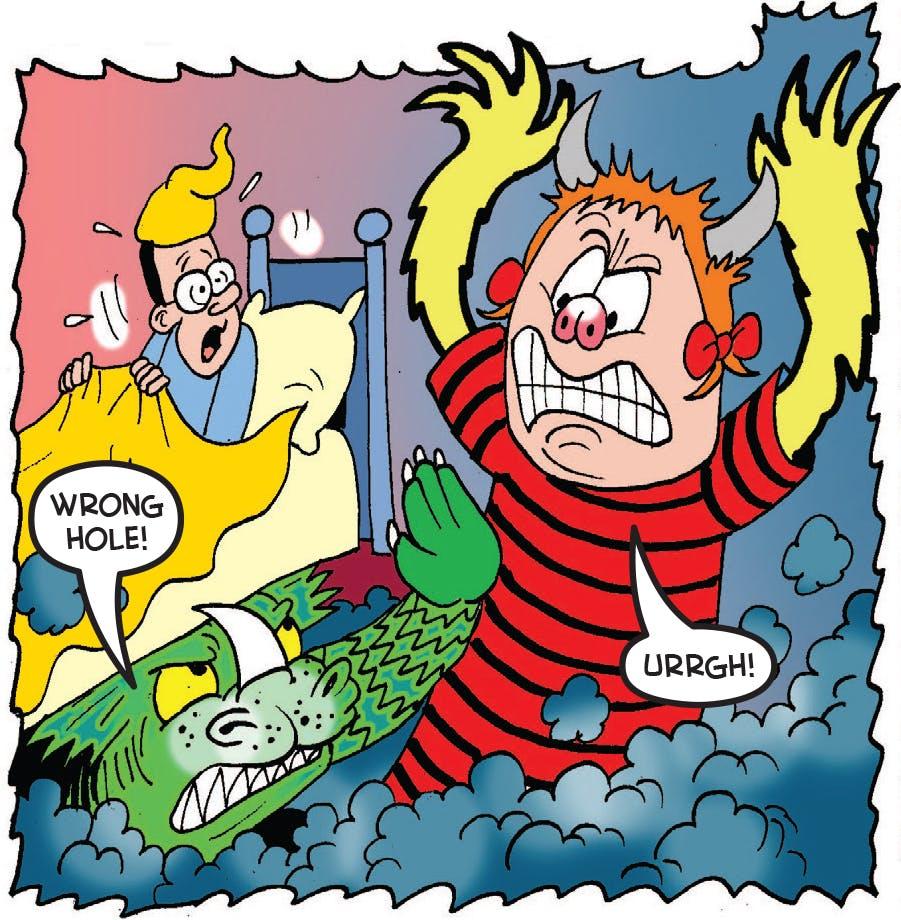 Minnie scares Walter