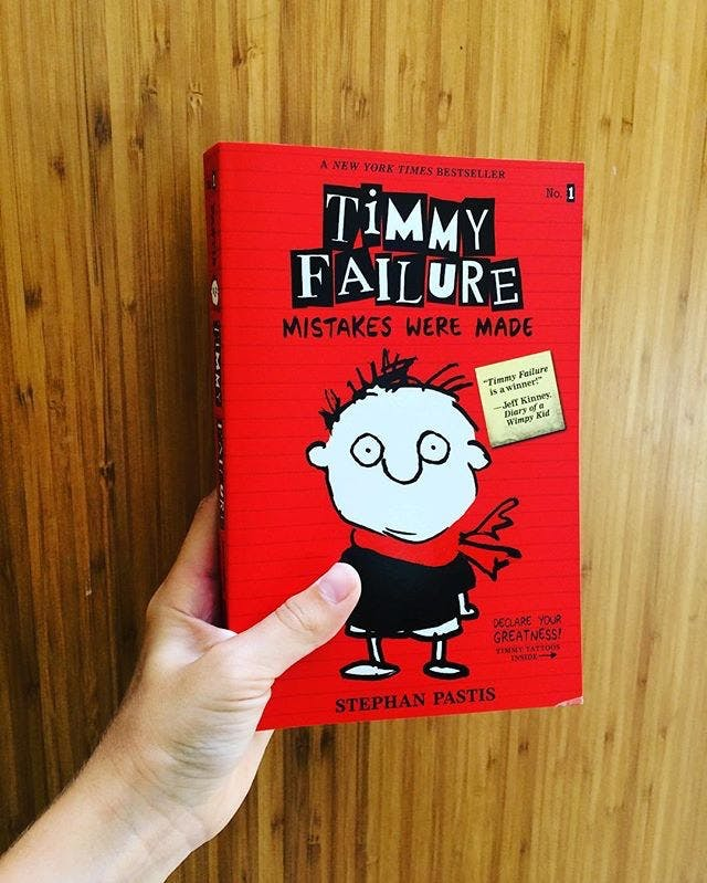 The book cover of Timmy Failure