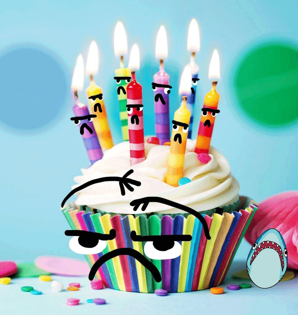 Grumpy cat's grumpy birthday cake