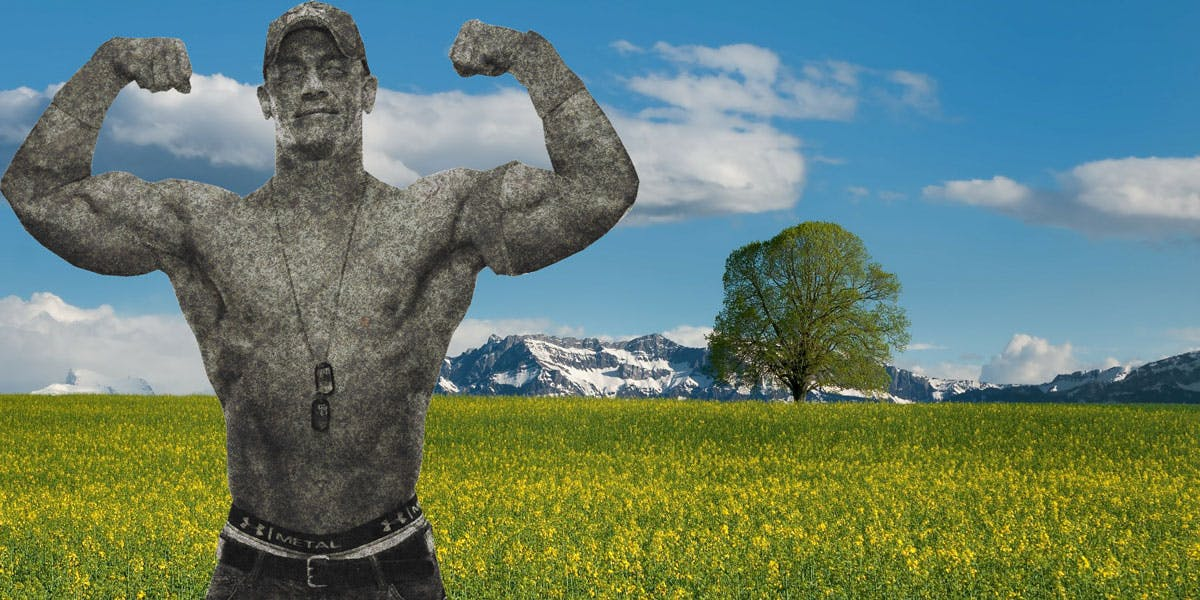 John Cena in stone form