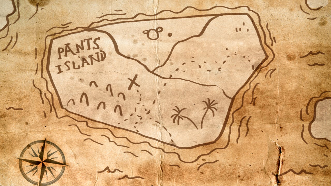 map of pants island