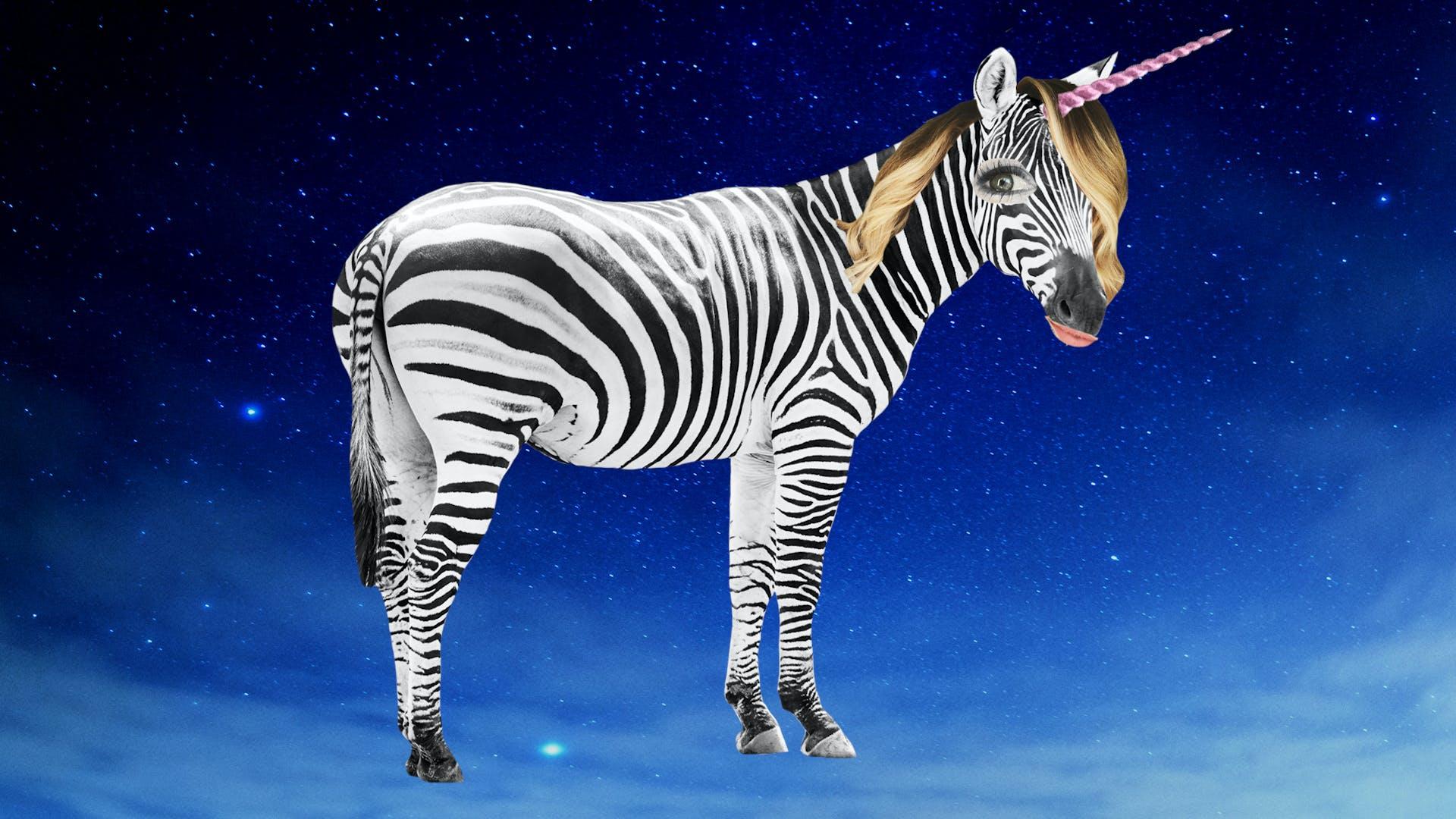 Zoella as a unicorn