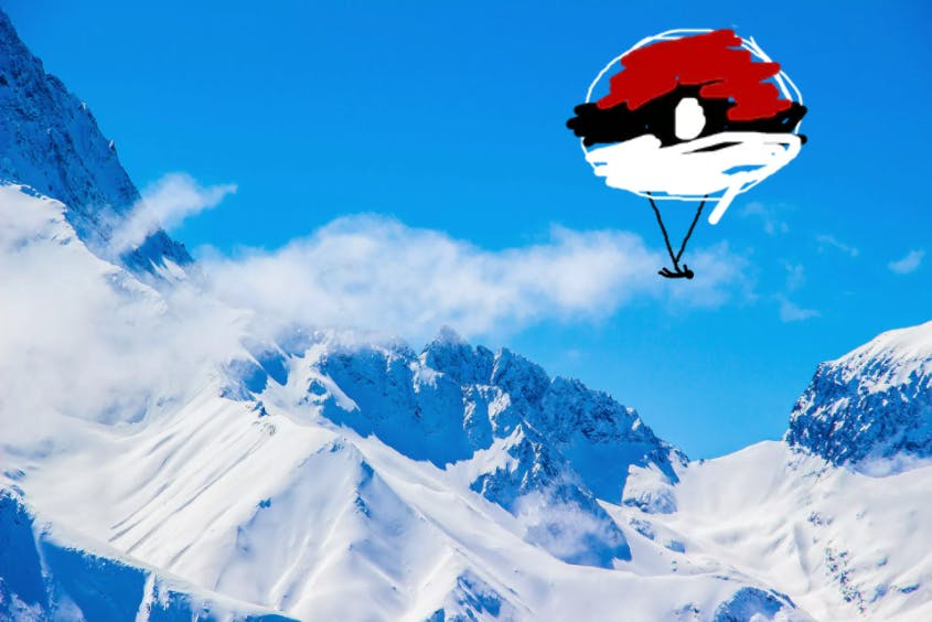 parachute pokeball