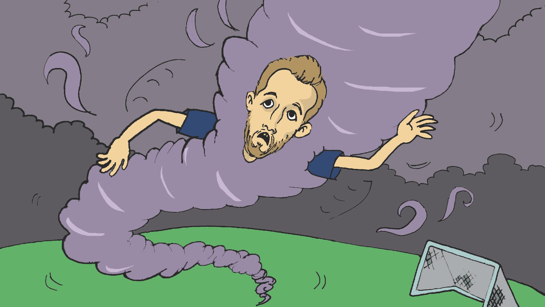 What blows at 100mph and always scores? - Harry Kane the Hurricane!
