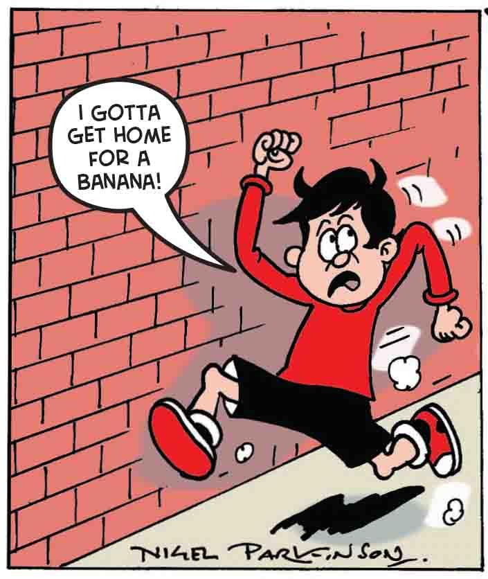 Eric runs away