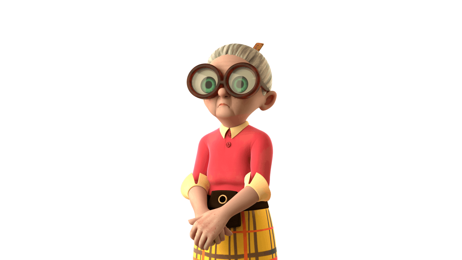 Mrs Creecher from 2017 animated tv series Dennis and Gnasher:Unleashed!
