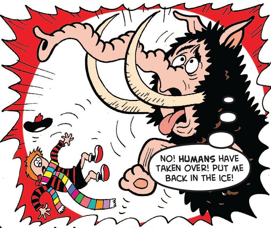 The mammoth panics
