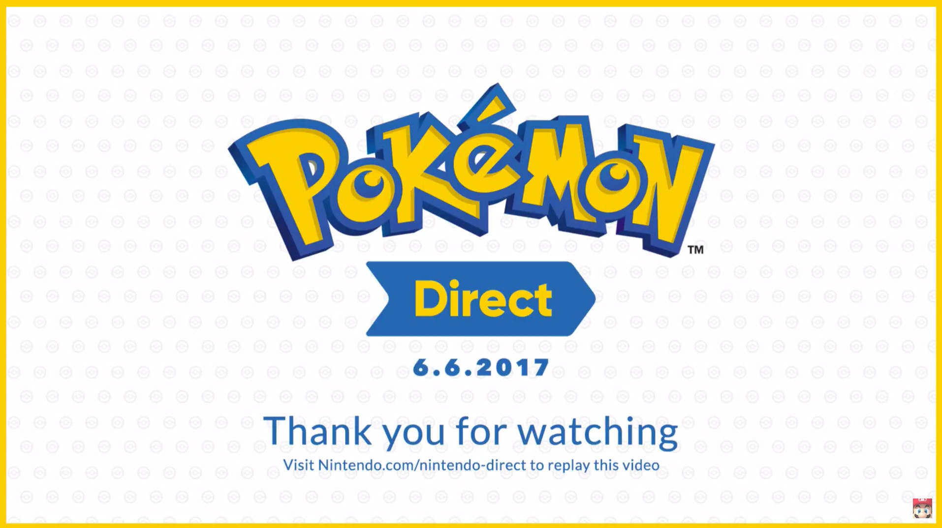 Pokémon Direct Livestream from Youtube