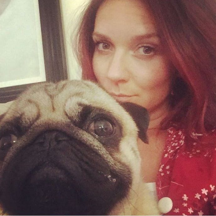 GBBO winner Candice Brown and her pet pug Dennis