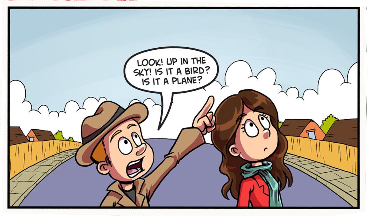 Is it a bird? Is it a plane? From Beano