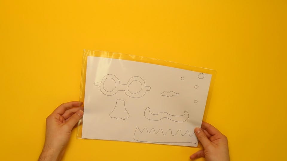 Use a template to draw over or make your own, and put it in a polypocket