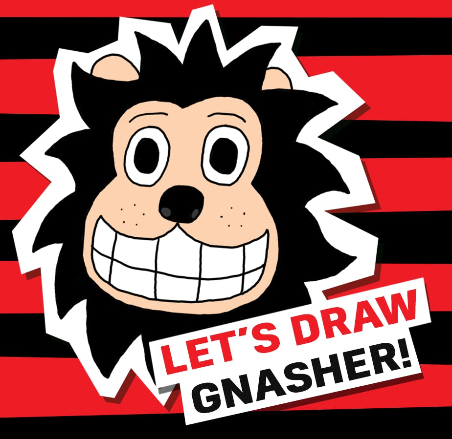 Let's draw gnasher