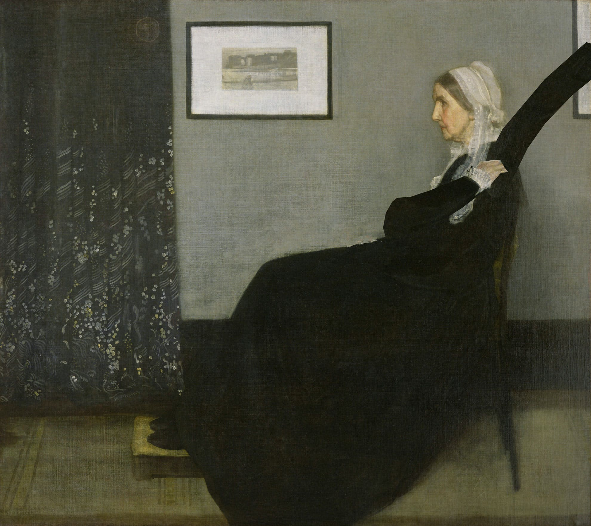 Whistler's Mother, with dabbing