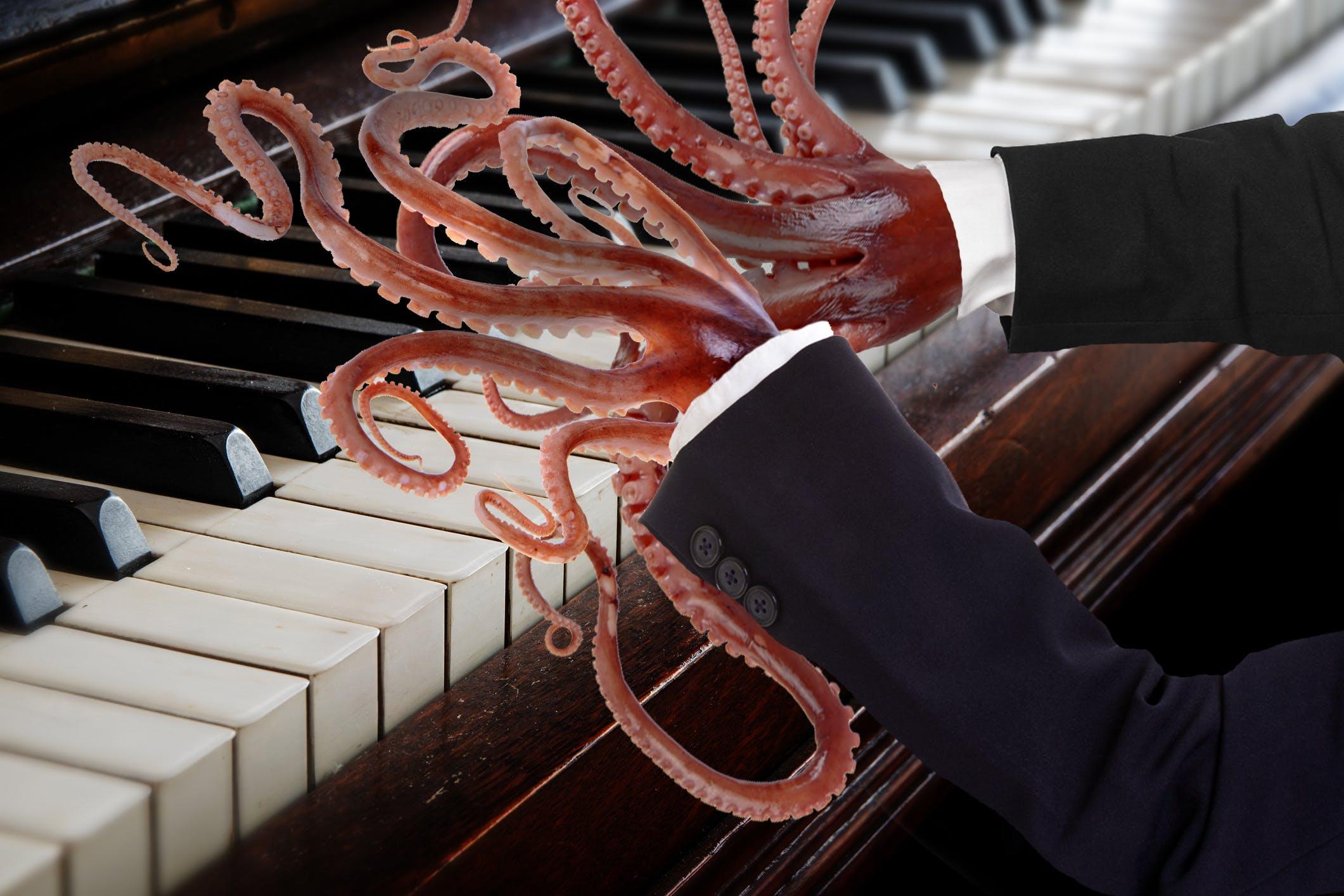 Octopus piano fingers