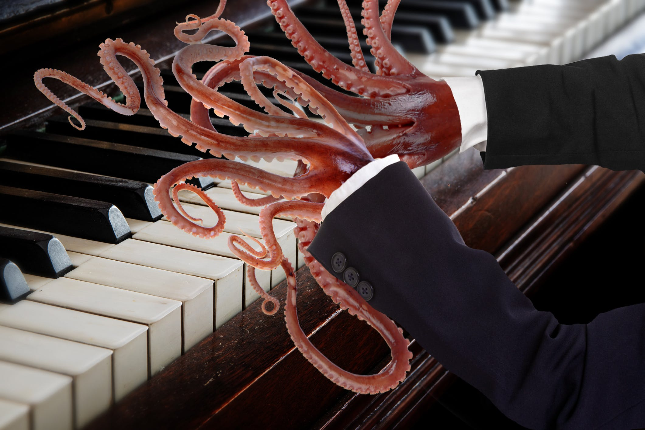 Octopus piano fingers