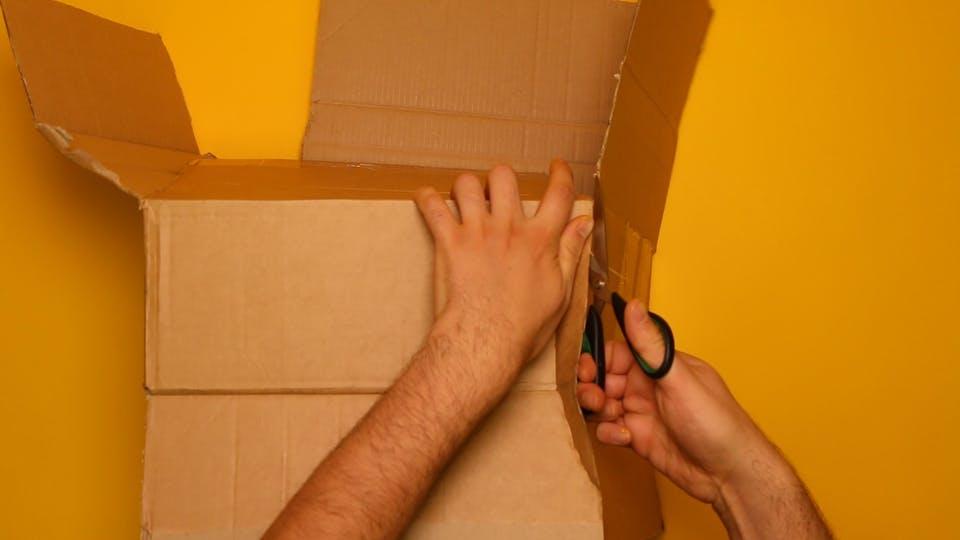 Cut the box to lay it flat