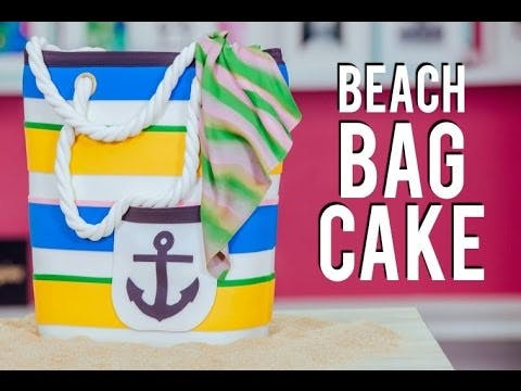 Beach Bag Cake by How to Cake It